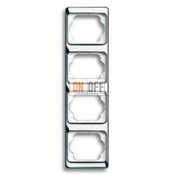 Рамка четверная для вертикального монтажа Alpha Exclusive хром 1754-0-4165