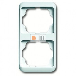 Рамка двойная для вертикального монтажа ABB Alpha Nea белый глянцевый 1754-0-4528