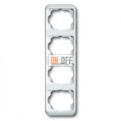 Рамка четверная для вертикального монтажа ABB Alpha Nea белый глянцевый 1754-0-2809