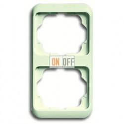 Рамка двойная для вертикального монтажа ABB Alpha Nea кремовый глянцевый 1754-0-3757