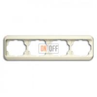 Рамка четверная для горизонтального монтажа ABB Alpha Nea кремовый глянцевый 1754-0-3815