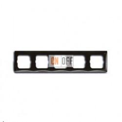 Рамка пятиместная ABB Basic 55, цвет шато-черный 1725-0-1510