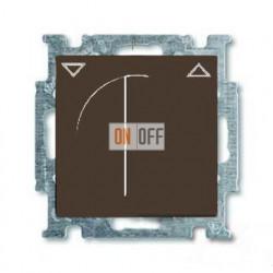 Выключатель жалюзи с поворотной ручкой с фиксацией, шато-черный 1101-0-0928
