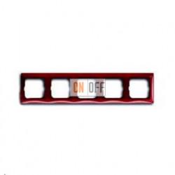 Рамка пятиместная ABB Basic 55, красная 1725-0-1520