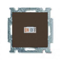 Выключатель одноклавишный с подсветкой ABB Basic 55, шато-черный 1012-0-2175