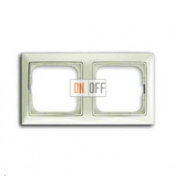 Рамка двойная ABB Basic 55, цвет шале-белый 1725-0-1512