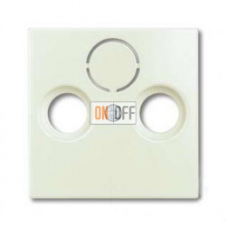 Розетка ТВ + радио + спутник оконечная Jung с лицевой панелью Basic 55, шале-белый 1724-0-4316 - S4100
