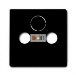 Розетка ТВ + радио + спутник оконечная Jung с лицевой панелью Basic 55, шато-черный 1724-0-4314 - S4100