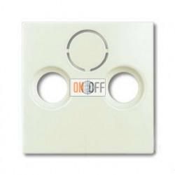 Розетка ТВ + радио оконечная Jung с лицевой панелью Abb Basic 55, шале-белый 1724-0-4316 - S2900