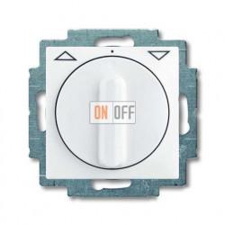 Выключатель жалюзи с поворотной ручкой без фиксации, белый 1101-0-0921