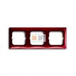 Рамка трехместная ABB Basic 55, красная 1725-0-1518
