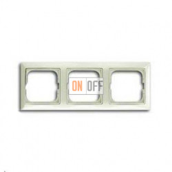 Рамка трехместная ABB Basic 55, цвет шале-белый 1725-0-1513