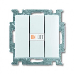 Выключатель трехклавишный ABB Basic 55, белый 1012-0-2155