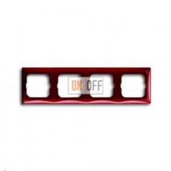 Рамка четырехместная ABB Basic 55, красная 1725-0-1519