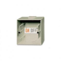 Коробка одинарная для открытого монтажа, ABB Basic 55, шампань 1799-0-0962