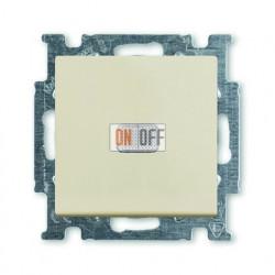 Выключатель одноклавишный с подсветкой ABB Basic 55, слоновая кость 1012-0-2156