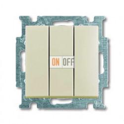 Выключатель трехклавишный ABB Basic 55, слоновая кость 1012-0-2158