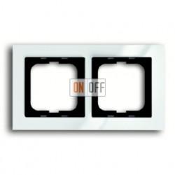 Рамка двойная ABB Busch-axcent белый глянцевый 1754-0-4332