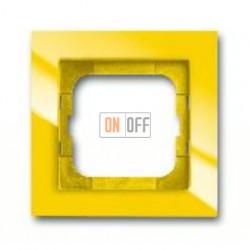 Рамка одинарная ABB Busch-axcent желтый глянцевый 1754-0-4334