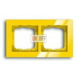 Рамка двойная ABB Busch-axcent желтый глянцевый 1754-0-4335