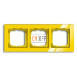 Рамка тройная ABB Busch-axcent желтый глянцевый 1754-0-4336