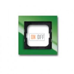 Рамка одинарная ABB Busch-axcent зеленый глянцевый 1754-0-4337