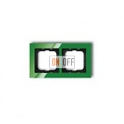 Рамка двойная ABB Busch-axcent зеленый глянцевый 1754-0-4338