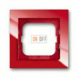 Рамка одинарная ABB Busch-axcent красный глянцевый 1754-0-4340