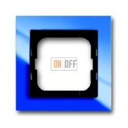 Рамка одинарная ABB Busch-axcent синий глянцевый 1754-0-4343