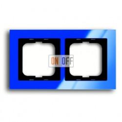 Рамка двойная ABB Busch-axcent синий глянцевый 1754-0-4344