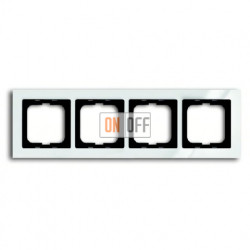 Рамка четверная ABB Busch-axcent белый глянцевый 1754-0-4346