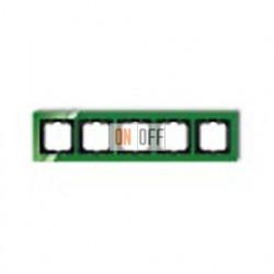 Рамка пятерная ABB Busch-axcent зеленый глянцевый 1754-0-4351