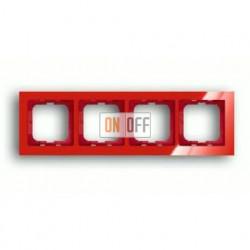 Рамка четверная ABB Busch-axcent красный глянцевый 1754-0-4352