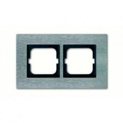 Рамка двойная ABB Carat нержавеющая сталь 1754-0-4255