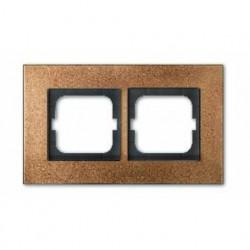 Рамка двойная ABB Carat бронза 1754-0-4259