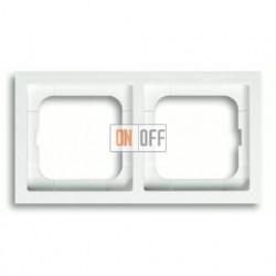 Рамка двойная, для горизонтального/вертикального монтажа ABB Future Linear белый глянцевый 1754-0-4499