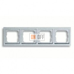 Рамка четверная, для горизонтального/вертикального монтажа ABB Future Linear серебристо-алюминиевый 1754-0-4309