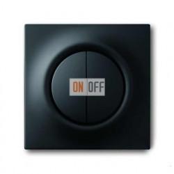 Выключатель двухклавишный с подсветкой, проходной ( вкл/выкл с 2-х мест),10 А / 250 В~ 1012-0-1671 - 1753-0-0152