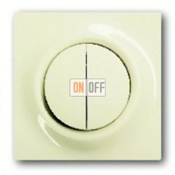 Выключатель двухклавишный с подсветкой, проходной ( вкл/выкл с 2-х мест),10 А / 250 В~ 1012-0-1671 - 1753-0-0064
