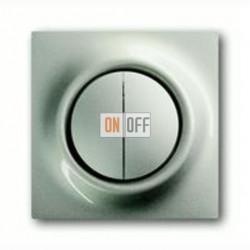 Выключатель двухклавишный с подсветкой, проходной ( вкл/выкл с 2-х мест),10 А / 250 В~ 1012-0-1671 - 1753-0-5333