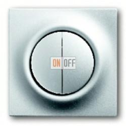Выключатель двухклавишный с подсветкой, проходной ( вкл/выкл с 2-х мест),10 А / 250 В~ 1753-0-0065 - 1012-0-1671