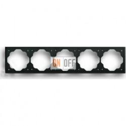 Рамка пятерная ABB Impuls черный бархат 1754-0-4428