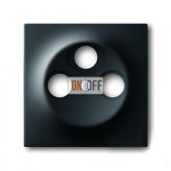 Розетка TV SAT FM проходная, ABB Impuls черный бархат S4110 - 1753-0-0139