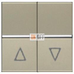 Выключатель жалюзи с фиксацией 16А ABB ZENIT (шампань) N2244.1 CV