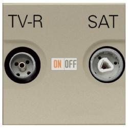 Розетка TV-R/SAT проходная ZENIT (шампань) N2251.8 CV
