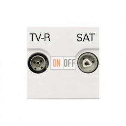 Розетка TV-R/SAT проходная ZENIT (Белый) N2251.8 BL