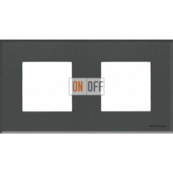 Рамка 2 поста по 2 модуля ABB Zenit, немецкий стандарт (стекло графит) N2272 CF - N2271.9 - N2271.9