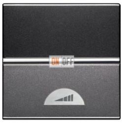 Светорегулятор клавишный 60-500Вт ZENIT (антрацит) N2260.1 AN