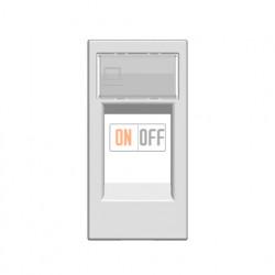 Розетка компьютерная 8 контактов (узкая, 1 модуль), категория 5E ZENIT (Белый) 2018.5 - N2118.1 BL