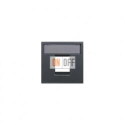 Розетка компьютерная 8 контактов одноместная, категория 5E ZENIT (антрацит) 2018.5 - N2218.1 AN